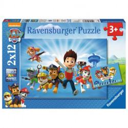 RAVENSBURGER Układanka Puzzle 2w1 PSI PATROL Ryder i Drużyna Psiego Patrolu 075867