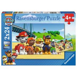 RAVENSBURGER Układanka Puzzle 2w1 PSI PATROL Bohaterskie Szczeniaki 090648