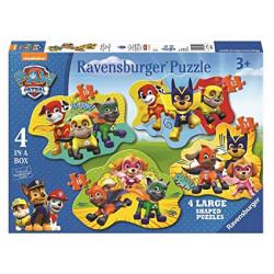 RAVENSBURGER Układanka Puzzle 4w1 PSI PATROL Drużyna Bohaterskich Psiaków 069118