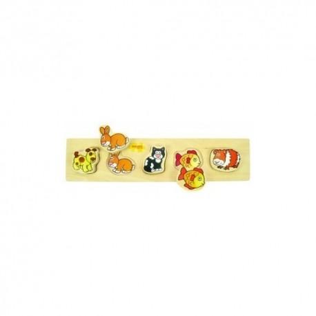 Bigjigs Toys - BB016 - Puzzle - Układanka - Pupile