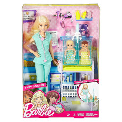 Mattel Lalka Barbie You Can Be Anything Pediatra Doktor DVG10