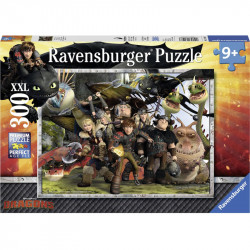 RAVENSBURGER Układanka Puzzle 300 Elementów DRAGONS Jak Wytresować Smoka Wszyscy Bohaterowie 131983