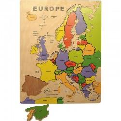 Bigjigs Toys - BJ306 - Puzzle 20 - Drewniana Mapa Europy