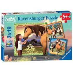 RAVENSBURGER Układanka Puzzle 3w1 SPIRIT Duch Wolności Przygody na Koniach 080687