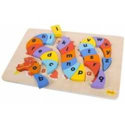 BigJigs Toys - BJ516 - Puzzle 27 - Alfabet - Smok