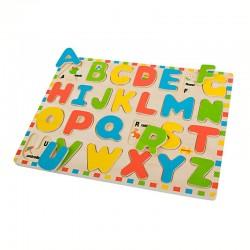 Bigjigs Toys - BJ755 - Puzzle 26 - Alfabet - Dopasowywanka - Literki
