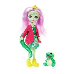 MATTEL ENCHANTIMALS Lalka i Zwierzątko Andie Alligator i Marshy GFN55