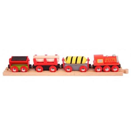 Bigjigs Toys - BJT183 - Pociąg Dostawczy