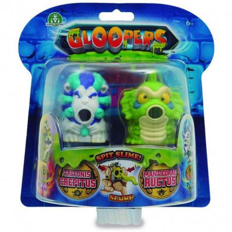 Gloopers Slime Stworek z Glutkiem TRITONIS GREPITUS i MANTICORAE RUCTUS 2-Pak 69720