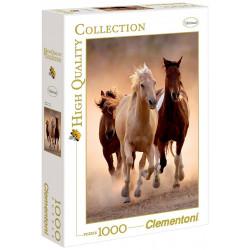 CLEMENTONI Puzzle 1000 el. High Quality Collection GALOPUJĄCE KONIE 39168