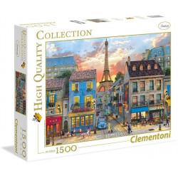 CLEMENTONI Puzzle 1500 el. High Quality Collection Ulice Paryża Wieża Eiffla 31679