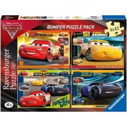 RAVENSBURGER Układanka Puzzle 4w1 CARS Autka 068906