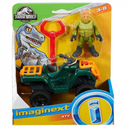 Fisher-Price JURASSIC WORLD Quad ATV i Figurka Technika FMX94