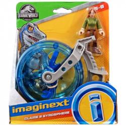 Mattel JURASSIC WORLD Imaginext Claire i Żyrosfera FMX93
