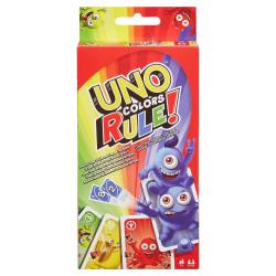 Mattel Gra Karciana UNO Colors Rule Kolor Rządzi DWV64
