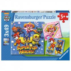 RAVENSBURGER PUZZLE 3X49el. PSI PATROL 080366
