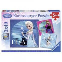 TREFL Kraina Lodu Frozen Puzzle 3x49el. ELSA ANNA I OLAF 092697