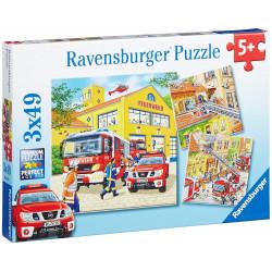 RAVENSBURGER Puzzle 3x49 STRAŻACKA EKIPA 094011