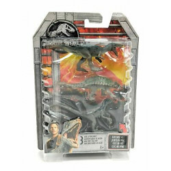 Mattel JURASSIC WORLD Zestaw Figurek 3 szt. MINI DINOZAURY FPN85