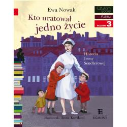 EGMONT Książka dla Dzieci Poziom 3 Czytam Sobie KTO URATOWAŁ JEDNO ŻYCIE 5736
