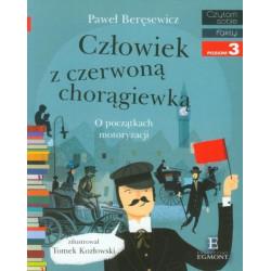 EGMONT Książka dla Dzieci Poziom 3 Czytam Sobie CZŁOWIEK Z CZERWONĄ CHORĄGIEWKĄ O początkach motoryzacji 1272