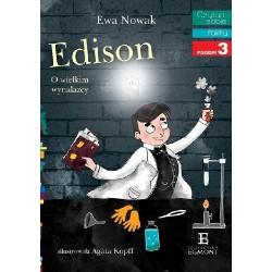 EGMONT Książka dla Dzieci Poziom 3 Czytam Sobie EDISON O WIELKIM WYNALAZCY 3335