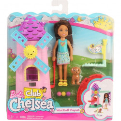 Mattel Lalka Barbie MINI GOLF Club Chelsea FRL85