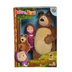 SIMBA Masza i Niedźwiedź Zestaw Figurka Masza i Maskotka Niedźwiedź 4176