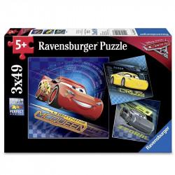RAVENSBURGER Puzzle 3 Układanki Cars 3 3w1 080267