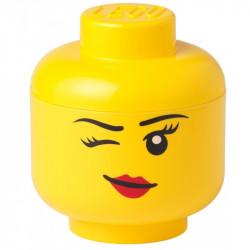 LEGO Pojemnik Głowa Duża L Dziewczynka WHINKY