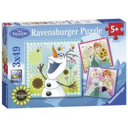 RAVENSBURGER Układanka Puzzle 3w1 FROZEN Kraina Lodu Gorączka Lodu 092451