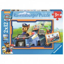RAVENSBURGER Puzzle 2x12el. PSI PATROL W AKCJI 075911