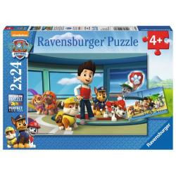 RAVENSBURGER Puzzle 2x12el. PSI PATROL RYDER I PRZYJACIELE 090853