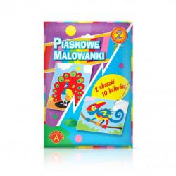 Alexander Piaskowe Malowanki Malowanie Piaskiem KAMELEON I PAW 3993