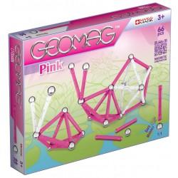 Swiss Made - 053 - Klocki Konstrukcyjne - Magnetyczne - Geomag - Pink - 66 el