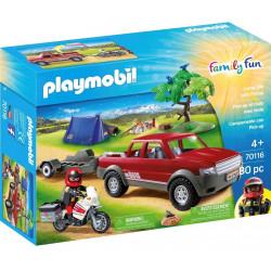 PLAYMOBIL 70116 Family Fun SAMOCHÓD PRZYGODA Z PICK-UPEM