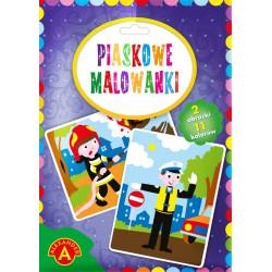 Alexander Piaskowe Malowanki Malowanie Piaskiem STRAŻAK I POLICJANT 0939