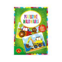 Alexander Piaskowe Malowanki Malowanie Piaskiem KOPARKA I TRAKTOR 0946