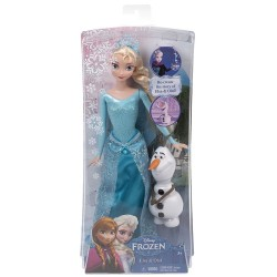 Mattel - CMM87 - Disney - Frozen - Kraina Lodu - Elsa i Olaf - lalka 30 cm i figurka 10 cm