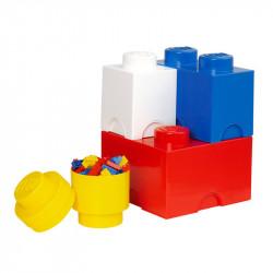 LEGO Pojemniki na Zabawki MULTI-PACK L Zestaw Czterech Pojemników 4015