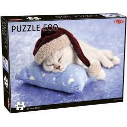 TACTIC Puzzle ŚWIĄTECZNY KOTEK 55252