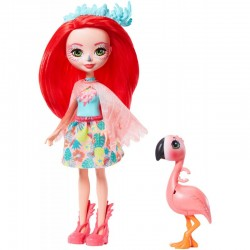 MATTEL Enchantimals Lalka i Zwierzątko FANCI FLAMINGO i FLAMING SWASH GFN42