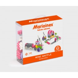 MARIOINEX Klocki Mini Wafle Zestaw Konstrukcyjny dla Dziewczynek 140 Elementów 90283