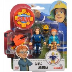 STRAŻAK SAM Zestaw Figurek Strażak Sam i Norman 41670