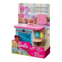 MATTEL Lalka Barbie ZESTAW MEBLE DO KUCHNI BARBIE FXG35
