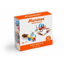 MARIOINEX Klocki Mini Wafle Zestaw Konstrukcyjny dla Chłopców 140 Elementów 90282
