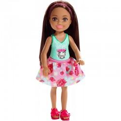 Mattel Mini Lalka Barbie Club Chelsea BRUNETKA FXG79