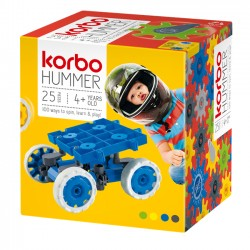 KORBO Klocki Konstrukcyjne HUMMER niebieski 25 el. 1402B