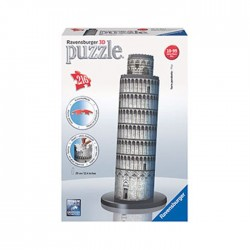 Ravensburger - 125579 - Puzzle 3D - Krzywa Wieża