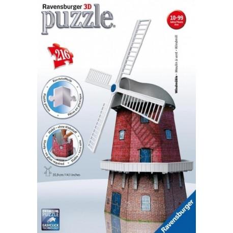 Ravensburger - 12563 - Puzzle 3D - Puzzle 216 - Młyn